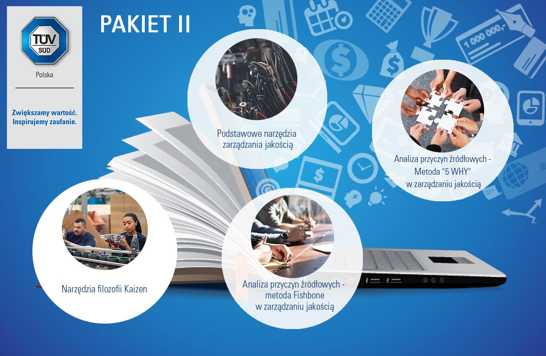 """PAKIET II : Podstawowe narzędzia zarządzania jakością + Analiza przyczyn źródłowych - Metoda """"5 WHY"""" w zarządzaniu jakością + Analiza przyczyn źródłowych - metoda Fishbone (diagram Ishikawy) w zarządzaniu jakością + Narzędzia filozofii Kaizen"""